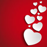Valentine Day Heart on Red  Background Stock Photos