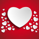 Valentine Day Heart on Red  Background Stock Photography