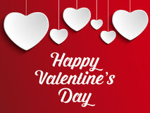 Valentine Day Heart on Red  Background Royalty Free Stock Photography