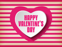 Valentine Day Heart on Retro  Background Royalty Free Stock Photography