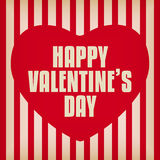 Valentine Day Heart on Retro  Background Stock Images