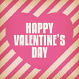Valentine Day Heart on Retro  Background Stock Photos