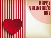 Valentine Day Heart on Retro  Background Stock Image