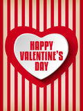 Valentine Day Heart on Retro  Background Royalty Free Stock Image