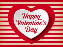 Valentine Day Heart on Retro  Background Royalty Free Stock Images