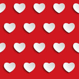 Valentine Day Heart Seamless Pattern-Achtergrond Stock Foto's