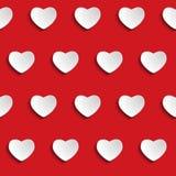 Valentine Day Heart Seamless Pattern-Hintergrund Stockfotos