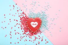 Valentine day heart shaped cookie royalty free stock photos