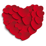 Valentine Day Heart on White Background Royalty Free Stock Images