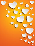 Valentine Day Heart on Yellow Background royalty free illustration