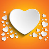 Valentine Day Heart on Yellow Background Royalty Free Stock Images
