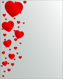 Valentine Day with hearts Royalty Free Stock Photos