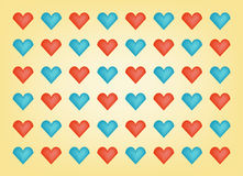 Valentine day hearts background Stock Image