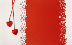Valentine Day Hearts Red Background Cartolina d'auguri di cerimonia nuziale Immagini Stock Libere da Diritti