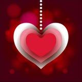 Valentine Day-Herzaufkleber-Liebeshintergrund Lizenzfreies Stockbild