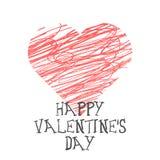 Valentine Day-het van letters voorzien Vector illustratie Royalty-vrije Stock Afbeeldingen