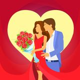 Valentine day holiday couple heart shape Royalty Free Stock Images