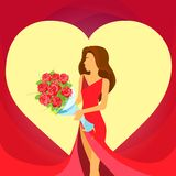 Valentine day holiday woman heart shape, Valentine Royalty Free Stock Images
