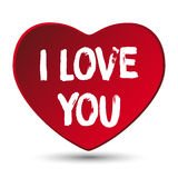 Valentine Day I Love you Heart Royalty Free Stock Photography