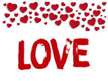 Valentine Day I Love you Heart Stock Images