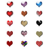 Valentine day icon set. It's a set of 15 love icons that can be used on a card or for any other illustration Stock Images