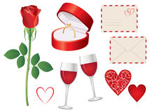 Valentine day icon set Royalty Free Stock Photography
