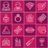 Valentine day, icon set Stock Photos