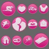 Valentine Day Icon Set Collection Stock Image
