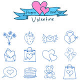 Valentine day of icons collection Stock Photos