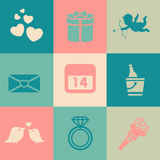 Valentine Day Icons Pack Stockfotos