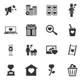 Valentine Day Icons Set Immagini Stock Libere da Diritti