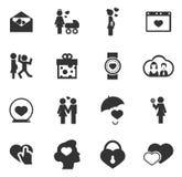 Valentine Day Icons Set Image libre de droits