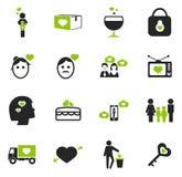 Valentine Day Icons Set Images libres de droits