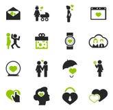 Valentine Day Icons Set Photos libres de droits