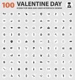Valentine Day Icons Set Fotografia Stock Libera da Diritti