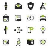 Valentine day icons set Royalty Free Stock Photos