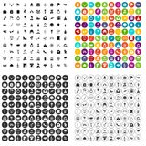100 valentine day icons set vector variant. 100 valentine day icons set vector in 4 variant for any web design isolated on white Stock Image