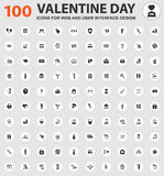 Valentine day icons set Royalty Free Stock Photography