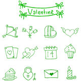 Valentine day icons vector illustration. Collection stock Stock Images