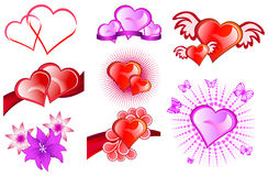 Valentine Day-Ikonen Stockbild