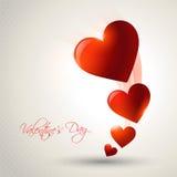Valentine day illustration. Beautiful valentine day heart background royalty free illustration