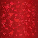 Valentine day illustration with heart. Vector Stock Photo
