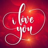 Valentine Day je t'aime dans l'image de vecteur de Sunglare Photos libres de droits