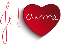 Valentine Day Je taime Heart Royalty Free Stock Images