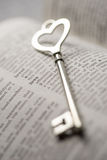 Valentine day, Key lock love concept Royalty Free Stock Image