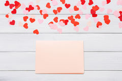 Valentine day letter card on white background Stock Image