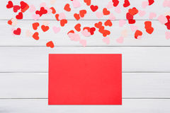 Valentine day letter card on white background Stock Photos