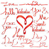 Valentine day letter font ribbon Stock Photo