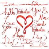 Valentine day letter font ribbon Stock Photo