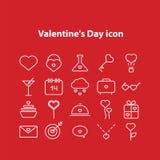 Valentine Day Line Icons Set. Stock Photography